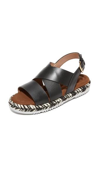 MARNI Braided Sole Sandals in Black