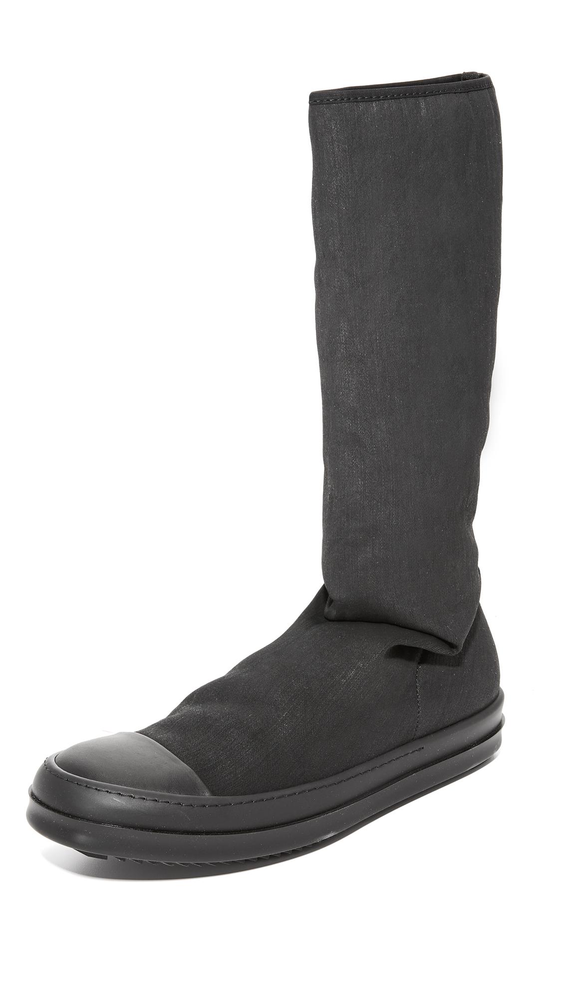 RICK OWENS DRKSHDW Sock Sneakers in Black