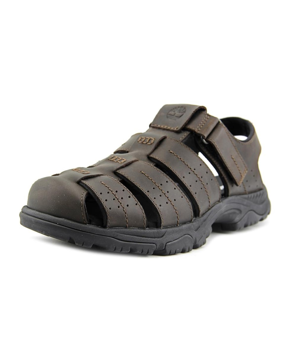 TIMBERLAND Timberland Crawley Men  Round Toe Leather Brown Fisherman Sandal'