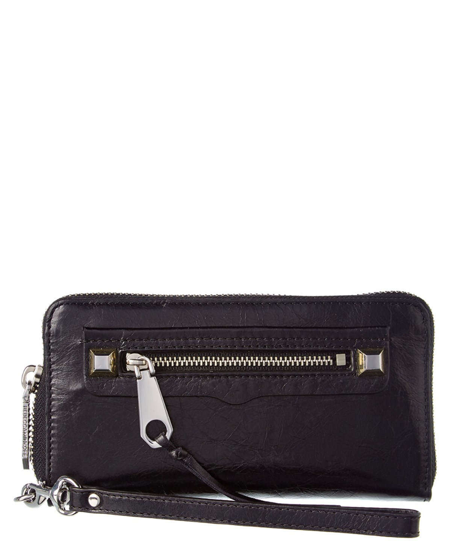 REBECCA MINKOFF Regan Snap Leather Wallet