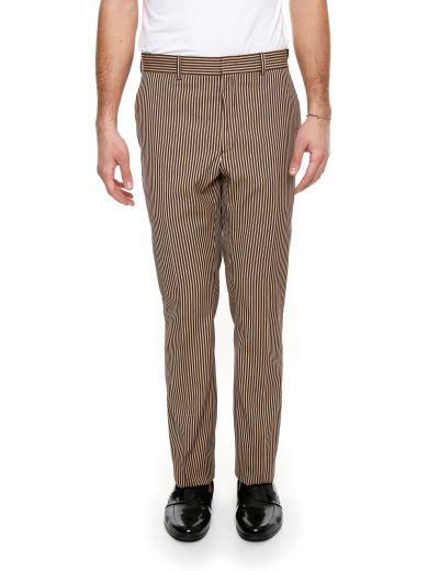 FENDI Striped Cotton Trousers