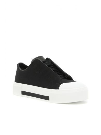 ALEXANDER MCQUEEN Canvas & Leather Low-Top Sneakers at Italist.com