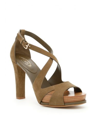TOD'S Suede Sandals at Italist.com