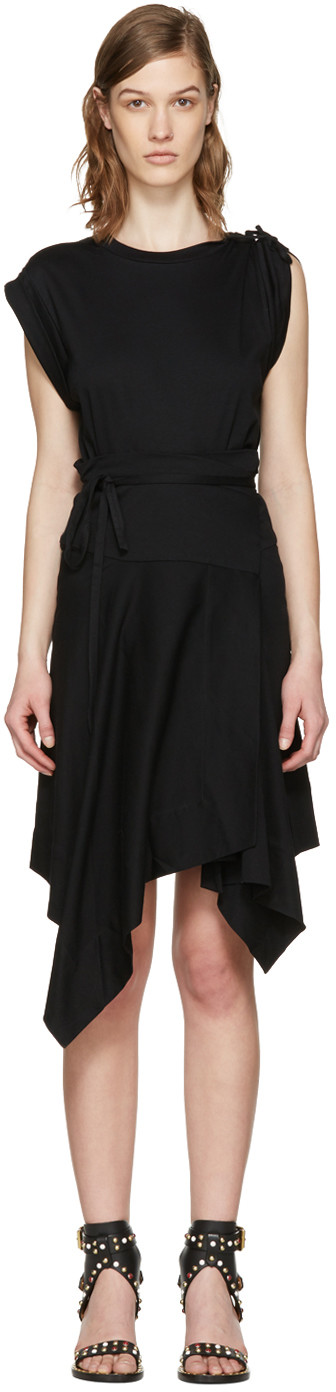ISABEL MARANT Loko Cotton Jersey Wrap Dress at SSENSE