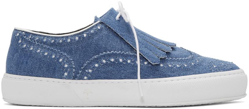 ROBERT CLERGERIE Blue Tolka Denim Sneakers
