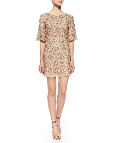 ALICE AND OLIVIA Drina Embellished Mesh Dress at Neiman Marcus