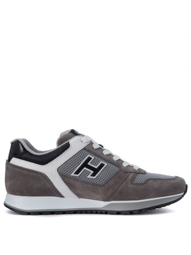 HOGAN Sneaker Hogan H321 Grey And White Leather Sneaker
