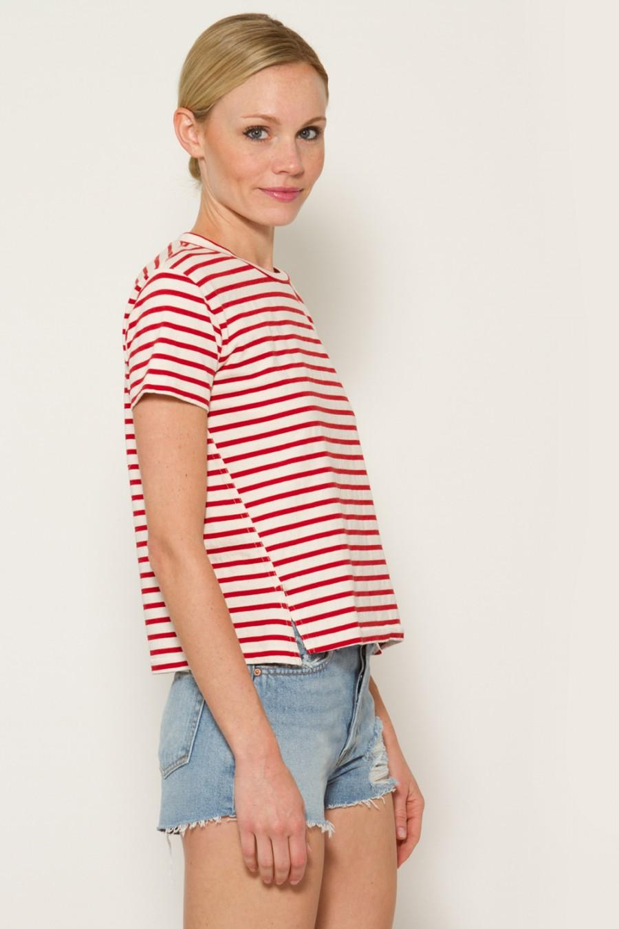 AMO Striped Twist Seam Tee at MADISON LOS ANGELES