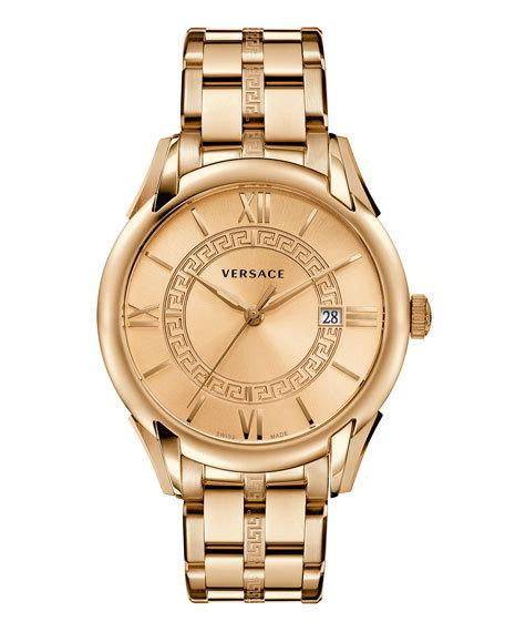 VERSACE Apollo Bracelet Watch, Rose Golden, White at LastCall.com