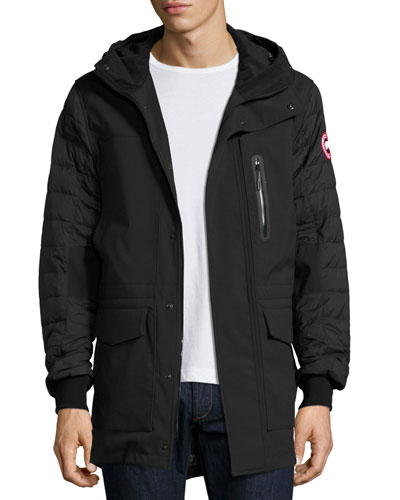 CANADA GOOSE Selwyn Quilted Puffer Coat, Black at BERGDORF GOODMAN