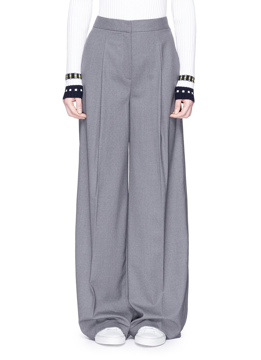 THEORY 'Bayport Ts' Virgin Wool Wide Leg Pants