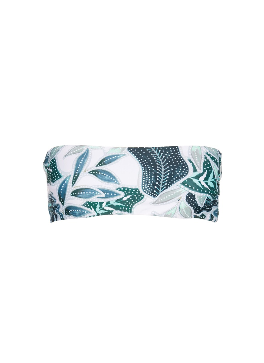 MARA HOFFMAN Sea Tree Print Bandeau Swim Top at Lane Crawford