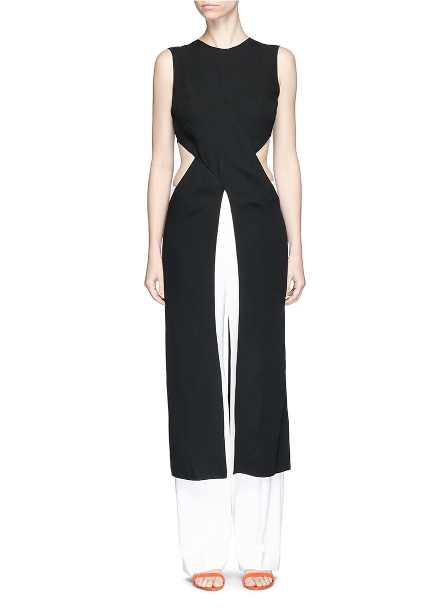 ROKSANDA 'Valda' Cutout Waist Silk Empire Dress