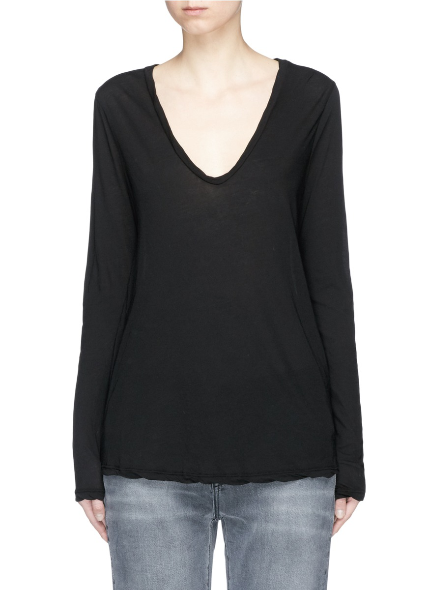 JAMES PERSE High Gauge Jersey Long Sleeve T-Shirt at Lane Crawford