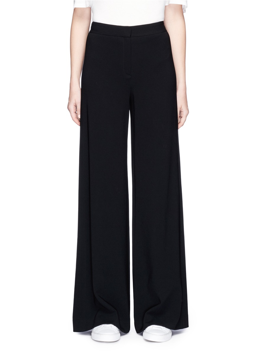 THEORY Simmone Admiral Crepe Wide-Leg Pants, Black at Lane Crawford