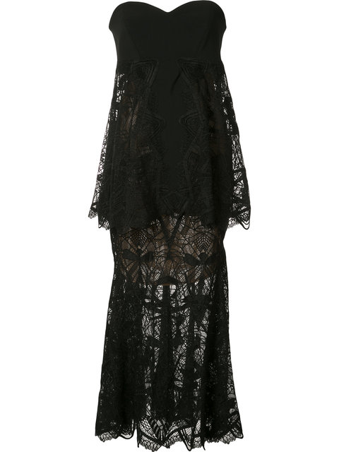 JONATHAN SIMKHAI Strapless Layered Dress