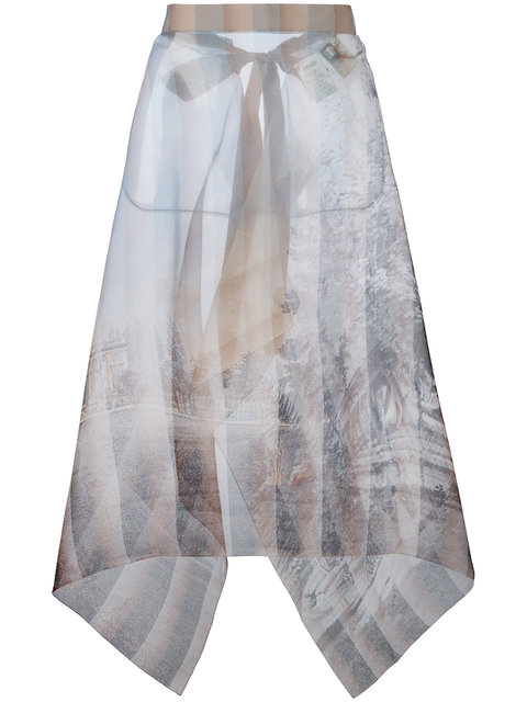 FENDI Sheer Printed Skirt