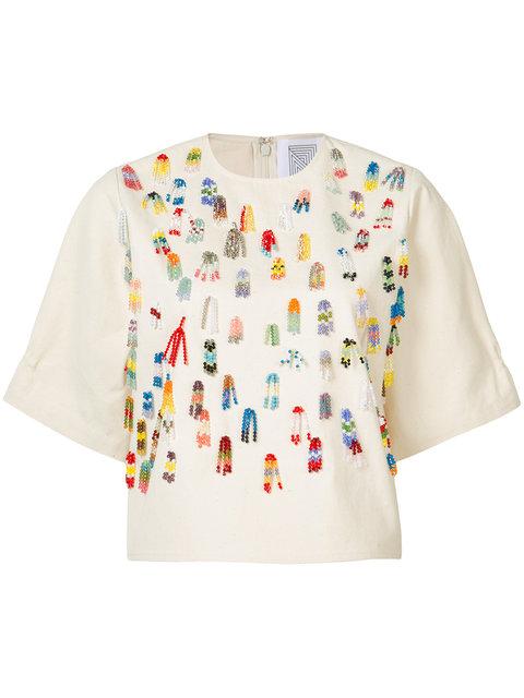 ROSIE ASSOULIN Beaded Applique T-Shirt