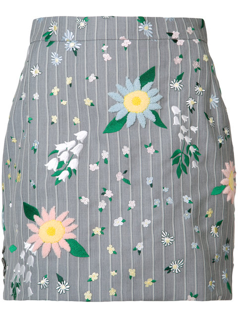 THOM BROWNE Floral Mini Skirt