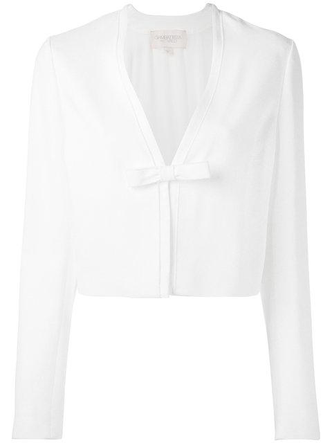 GIAMBATTISTA VALLI Cropped Bow Jacket