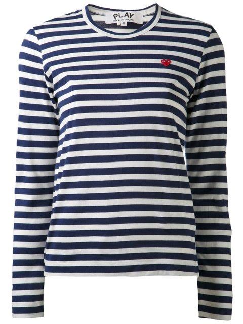 COMME DES GARÇONS PLAY Striped Long Sleeve T-Shirt