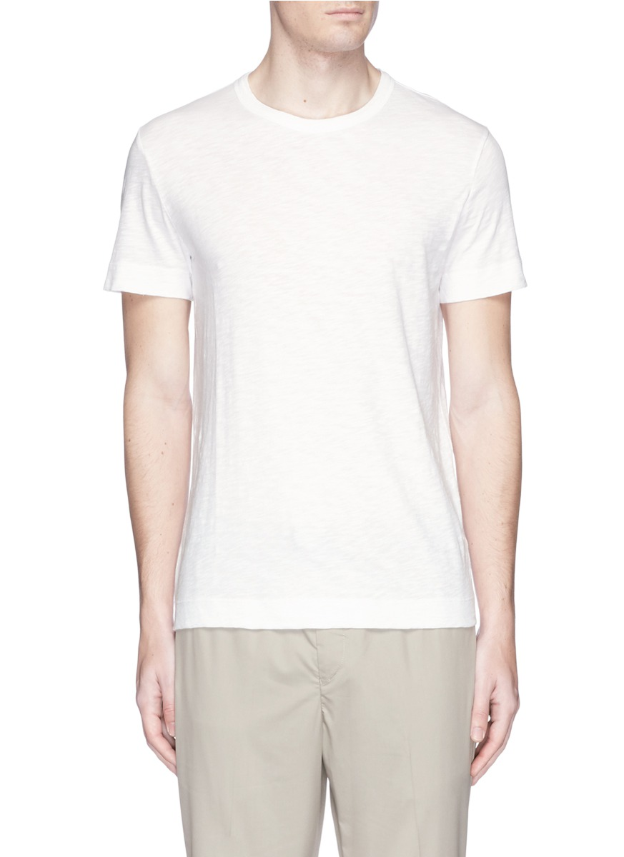 THEORY Gaskell N. Air Pique Crewneck T-Shirt, White at Lane Crawford