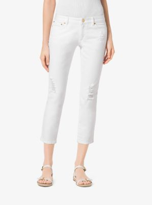 MICHAEL MICHAEL KORS Distressed Cropped Jeans at Michael Kors