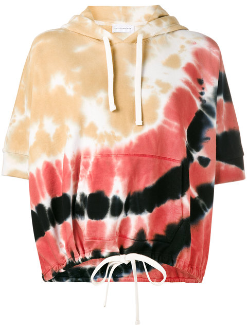 FAITH CONNEXION Tie-Dyed Terry Boxy Hoodie