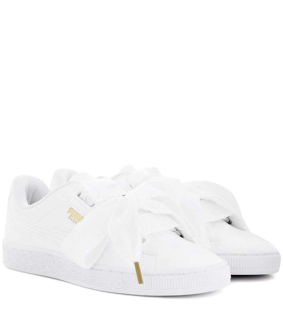 PUMA Basket Patent Leather Lace Up Sneakers at mytheresa.com