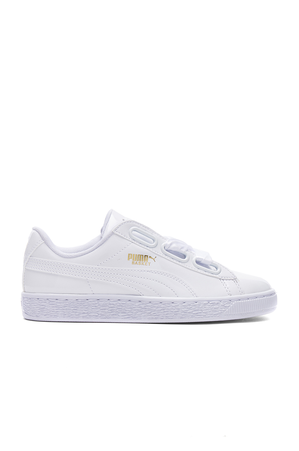 PUMA Basket Patent Leather Lace Up Sneakers at REVOLVE