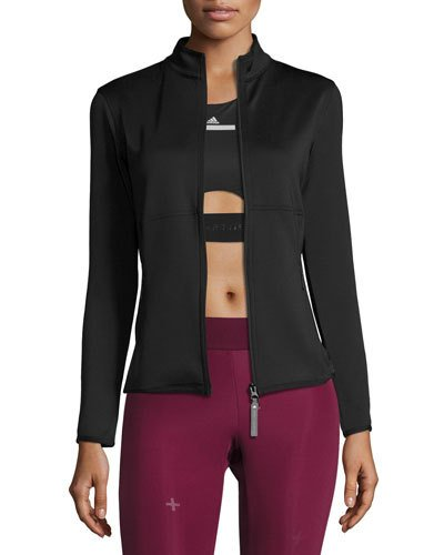 ADIDAS BY STELLA MCCARTNEY The Midlayer Zip-Front Jacket, Black at Neiman Marcus