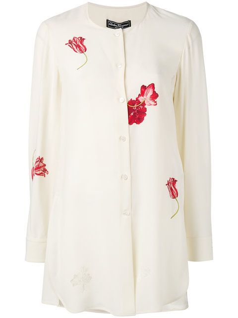 SALVATORE FERRAGAMO Floral-Print Shirt at Farfetch