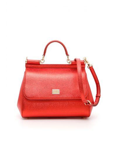 DOLCE & GABBANA Laminated Sicily Bag