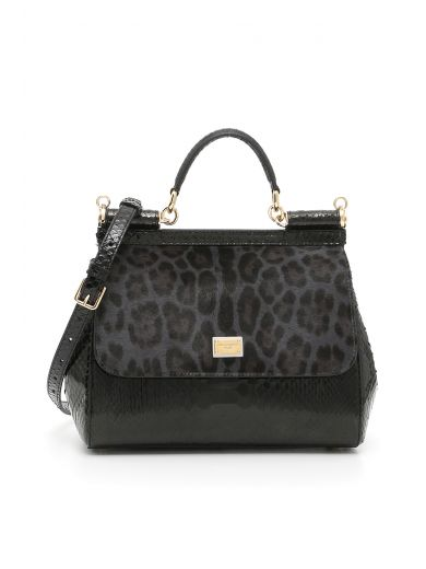 DOLCE & GABBANA Pony And Python Sicily Bag
