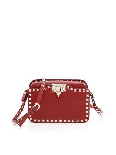 VALENTINO Rockstud Bag in Rubino|Rosso