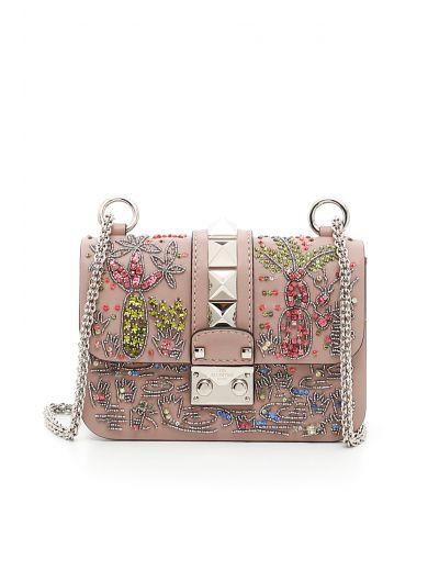 VALENTINO Shoulder Bag in Poudre|Rosa