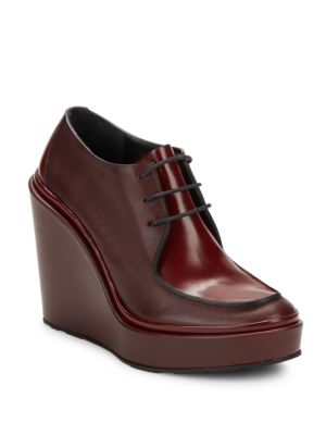 JIL SANDER Platform Leather Derby Shoes at Saks Off 5TH