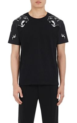 VALENTINO Panther Printed Cotton Jersey T-Shirt, Black at BARNEYS