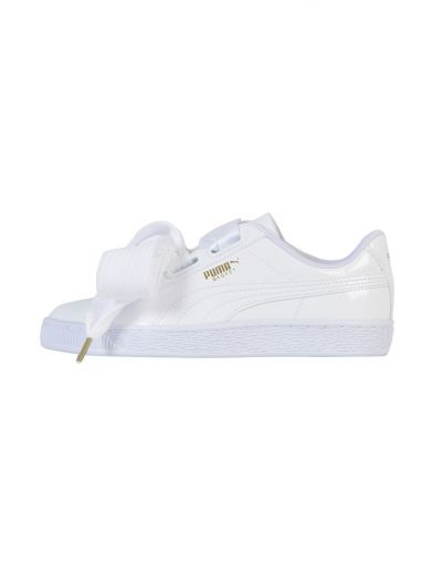 PUMA Basket Patent Leather Lace Up Sneakers at Italist.com