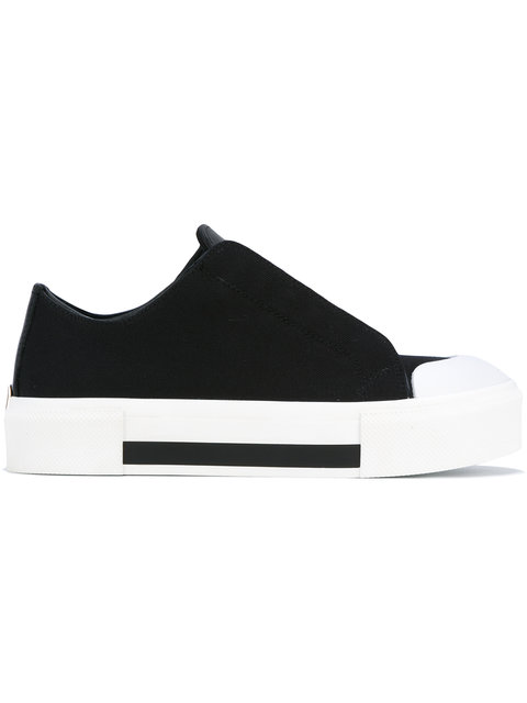 ALEXANDER MCQUEEN Canvas & Leather Low-Top Sneakers at Farfetch