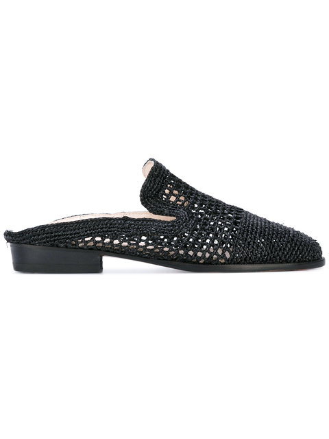 ROBERT CLERGERIE Black Antes Slip-On Loafers at Farfetch
