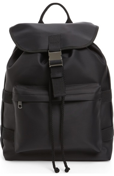 A.P.C. Canvas-Trimmed Nylon Backpack in Colour: Black