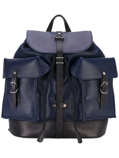 SALVATORE FERRAGAMO Multi-Pocket Backpack at Farfetch