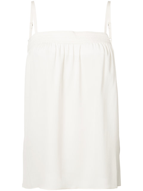 VINCE Embroidered Silk Camisole at Farfetch