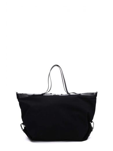 SAINT LAURENT Large Id Convertible Bag in Nero
