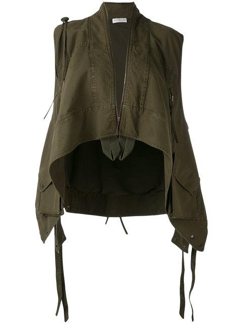 FAITH CONNEXION Asymmetric Zipped Waistcoat