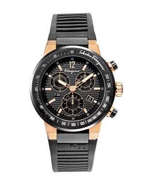 SALVATORE FERRAGAMO Mens F-80 Two-Tone Chronograph Watch in Na