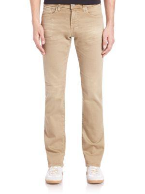 AG Matchbox Slim-Straight Jeans in 2 Years Infantry Khaki