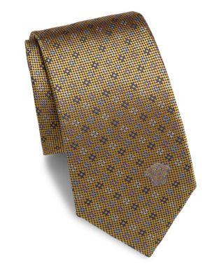 VERSACE Textured Silk Tie in Na