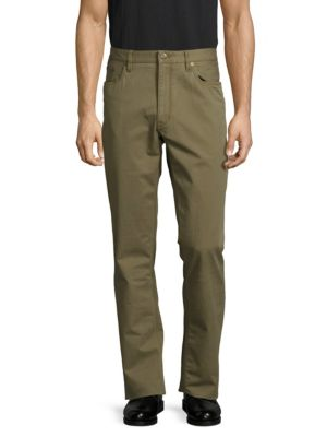 RALPH LAUREN Straight-Fit Solid Pants in Brown